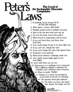 Peter's Laws Poster